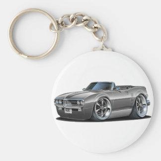 1967 Firebird Grey Convertible Basic Round Button Keychain