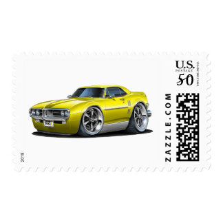 1967 Firebird Yellow Car Postage
