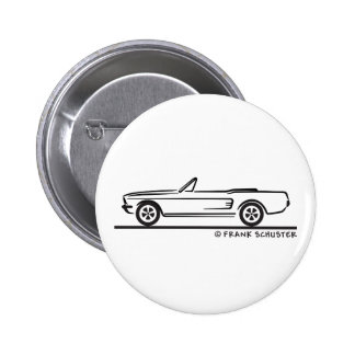 1967 Ford Mustang Convertible Pinback Button