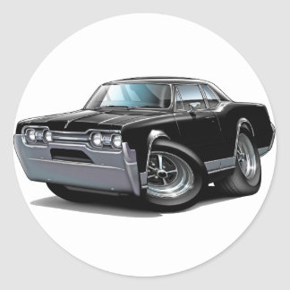 1967 Olds Cutlass Black Car Classic Round Sticker