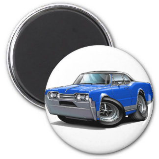 1967 Olds Cutlass Blue-Black Car 2 Inch Round Magnet