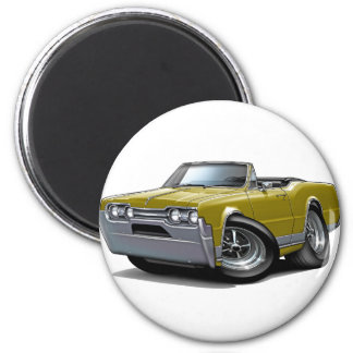 1967 Olds Cutlass Gold Convertible 2 Inch Round Magnet