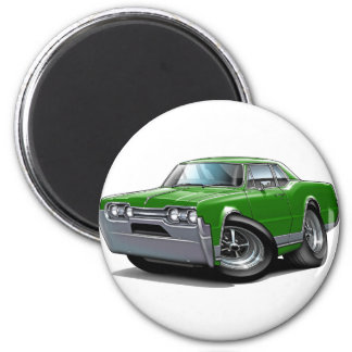 1967 Olds Cutlass Green Car 2 Inch Round Magnet