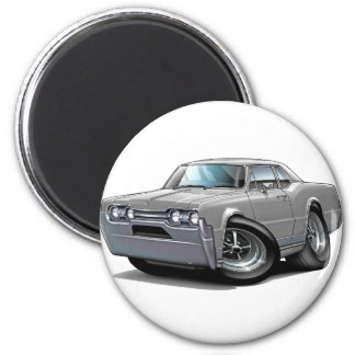1967 Olds Cutlass Grey Car 2 Inch Round Magnet