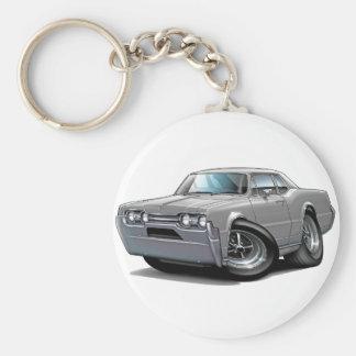 1967 Olds Cutlass Grey Car Basic Round Button Keychain