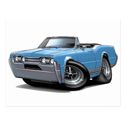 1970 Oldsmobile Cutlass Cutlass Supreme Convertible: 1967 Olds Cutlass Lt Blue Convertible Postcard