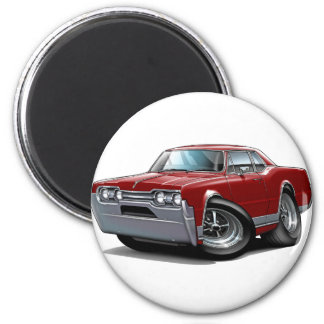 1967 Olds Cutlass Maroon Car 2 Inch Round Magnet