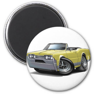 1967 Olds Cutlass Tan Convertible 2 Inch Round Magnet