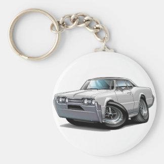1967 Olds Cutlass White-Black Car Keychain