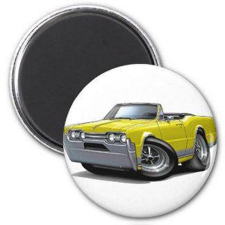 1967 Olds Cutlass Yellow Convertible Magnet