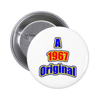 1967 Original Bl Red Pinback Button