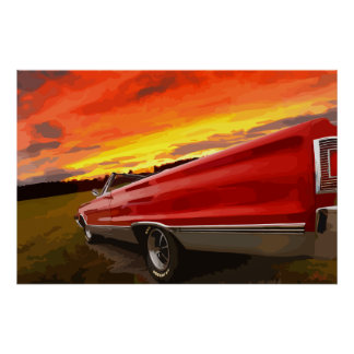 1967 Plymouth Satellite Convertible Sky Fire Print