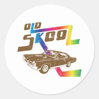 1967 Pontiac GTO Classic Round Sticker