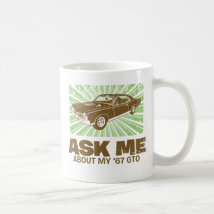 1967 Pontiac GTO Classic White Coffee Mug