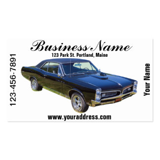 1967 Pontiac GTO Muscle Car Double-Sided Standard Business Cards (Pack Of 100)