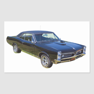 1967 Pontiac GTO Muscle Car Rectangular Sticker