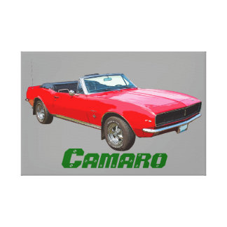 1967 red convertible Camaro Muscle Car. Canvas Print