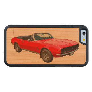 1967 Red Convertible Camaro Muscle Car Carved Cherry iPhone 6 Bumper Case