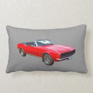 1967 red convertible Camaro Muscle Car. Lumbar Pillow