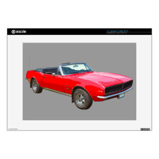 "1967 red convertible Camaro Muscle Car. Skin For 15"" Laptop"
