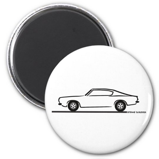 1968 1969 Plymouth Barracuda 2 Inch Round Magnet