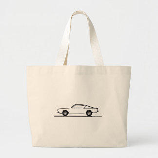 1968 1969 Plymouth Barracuda Large Tote Bag