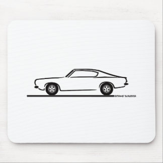 1968 1969 Plymouth Barracuda Mouse Pad