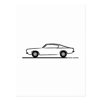 1968 1969 Plymouth Barracuda Postcard