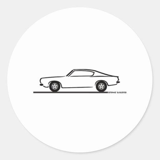 1968 1969 Plymouth Barracuda Sticker