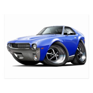 1968-69 AMX Blue Car Postcard