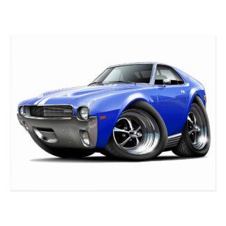 1968-69 AMX Blue-White Car Postcard