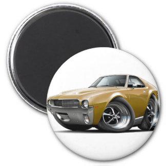 1968-69 AMX Gold Car 2 Inch Round Magnet