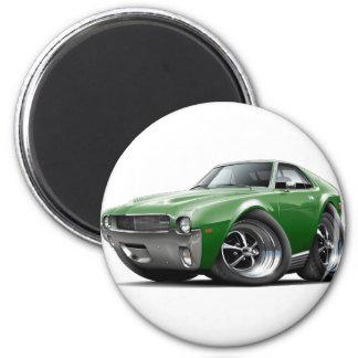 1968-69 AMX Green Car 2 Inch Round Magnet