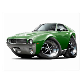 1968-69 AMX Green Car Postcard