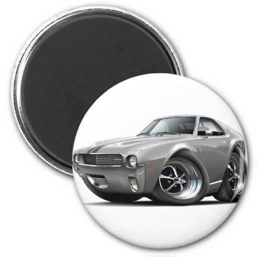 1968-69 AMX Grey-Black Car 2 Inch Round Magnet