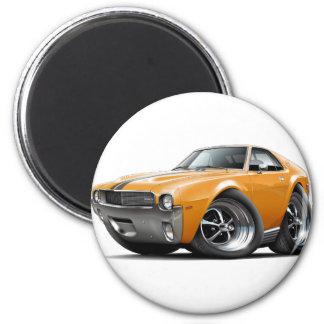 1968-69 AMX Orange-Black Car 2 Inch Round Magnet