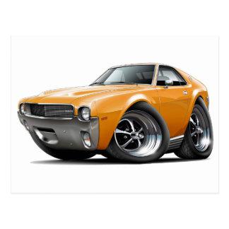 1968-69 AMX Orange Car Postcard