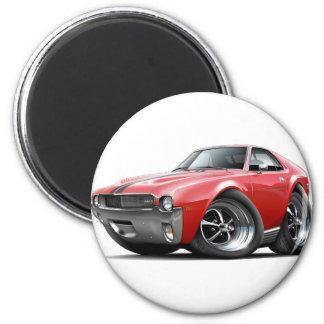 1968-69 AMX Red-Black Car 2 Inch Round Magnet