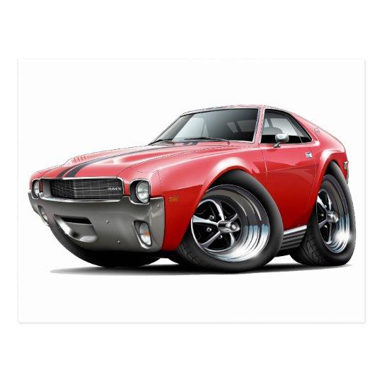 1968-69 AMX Red-Black Car Postcard