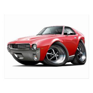 1968-69 AMX Red Car Postcard