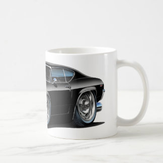 1968-69 Chevelle Black Car Classic White Coffee Mug