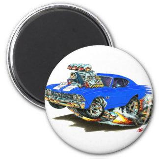 1968-69 Chevelle Blue White Car Magnet