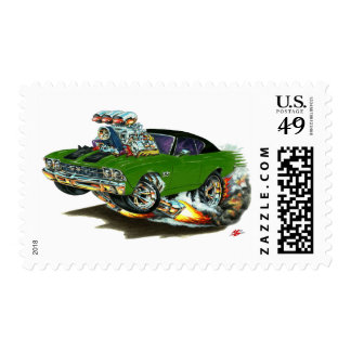 1968-69 Chevelle Green Black Top Car Postage