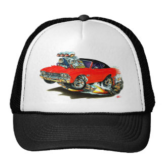1968-69 Chevelle Red and Black Top Car Mesh Hat
