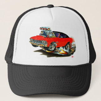 1968-69 Chevelle Red and Black Top Car Trucker Hat