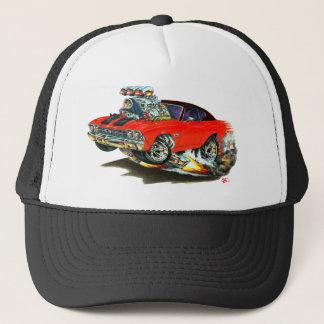 1968-69 Chevelle Red-Black Top Car Trucker Hat