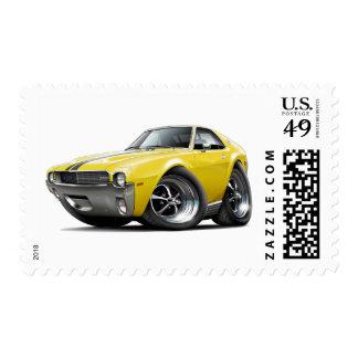 1968-69 coche Amarillo-Negro de AMX Franqueo
