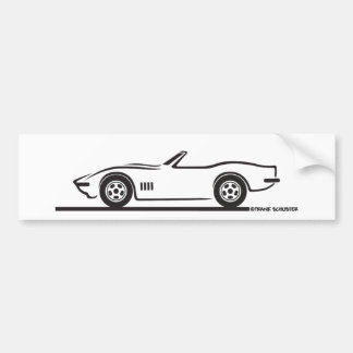 1968-69 Corvette Convertible Bumper Sticker