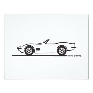 1968-69 Corvette Convertible 4.25x5.5 Paper Invitation Card