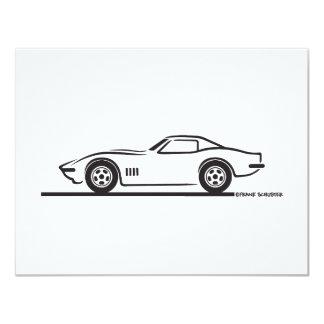 1968-69 Corvette 4.25x5.5 Paper Invitation Card